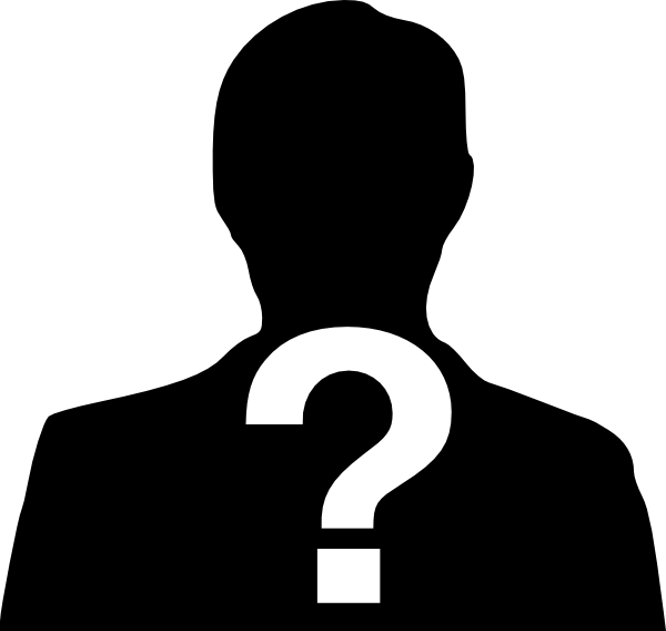 Mystery person clip art.
