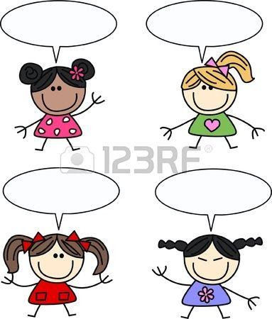 Kids speak clipart