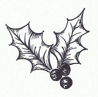 Vintage black and white mistletoe clip art.