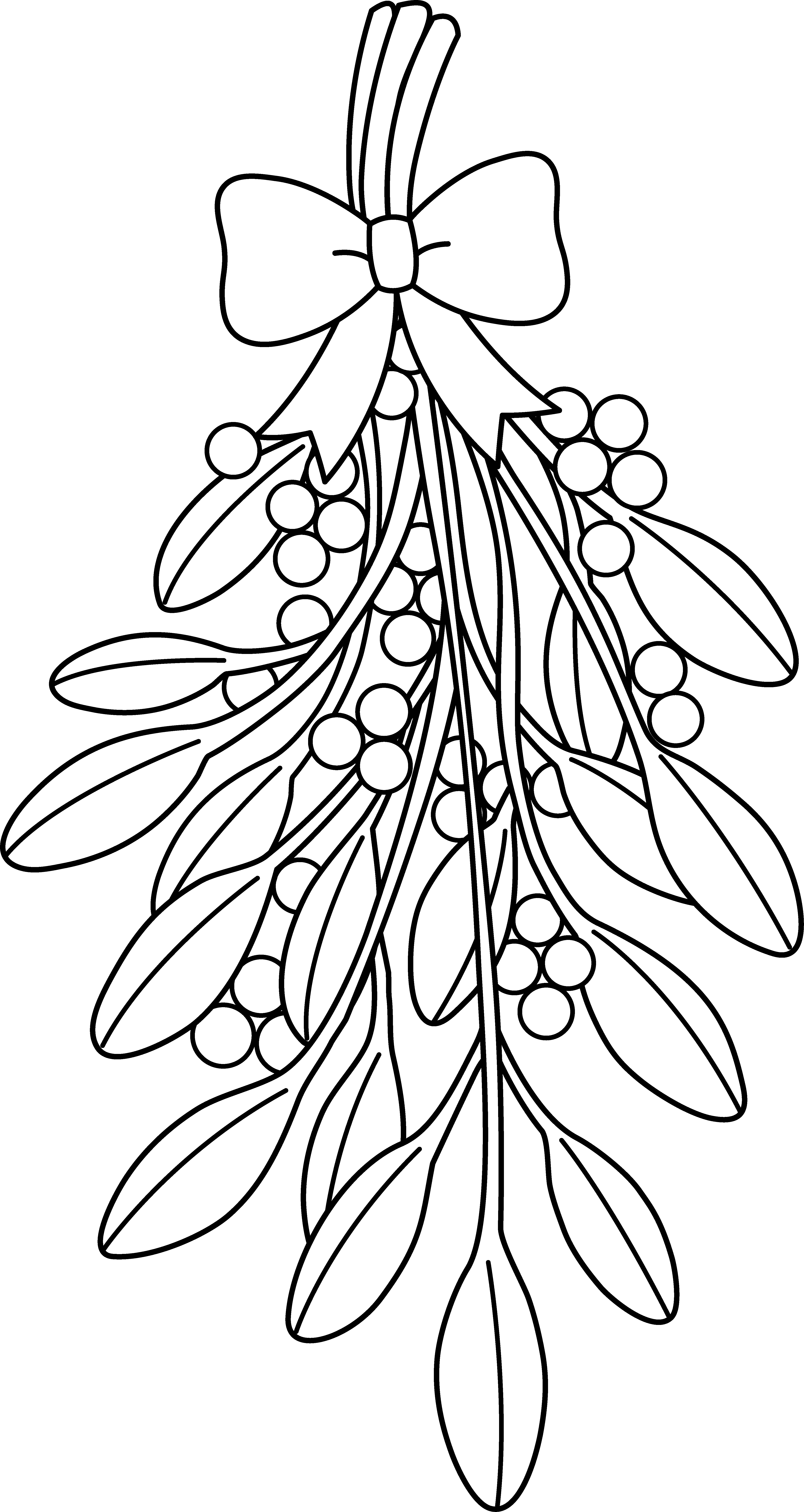 Mistletoe Clipart Black And White.