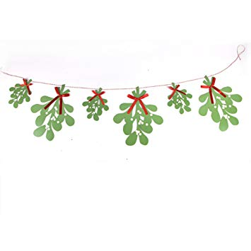 Paper Jazz mistletoe garland hanging decoration for.