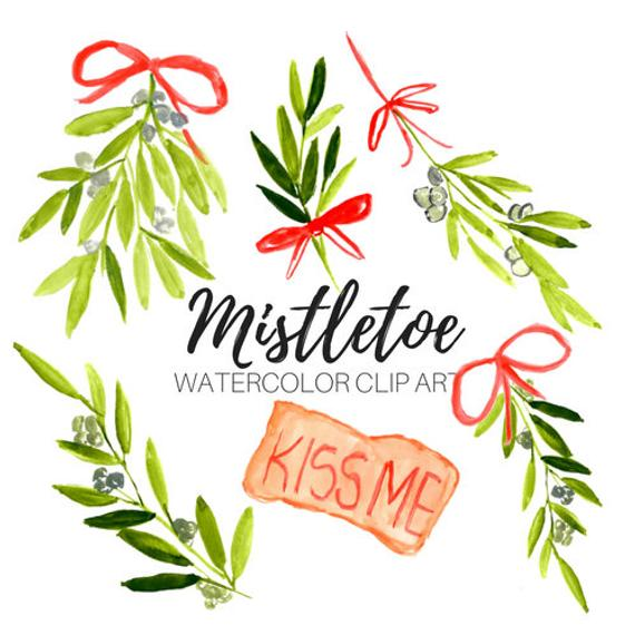 Mistletoe clipart, christmas graphics, holiday,floral, winter,commercial use.