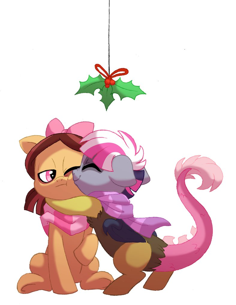Mistletoe Kisses by Lopoddity on DeviantArt.