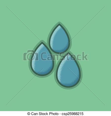 Vector Clip Art of Lienar Flat Stroke Small Mist Icon.