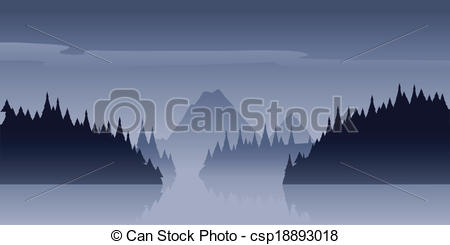 Vector Clip Art of Wilderness Mist.