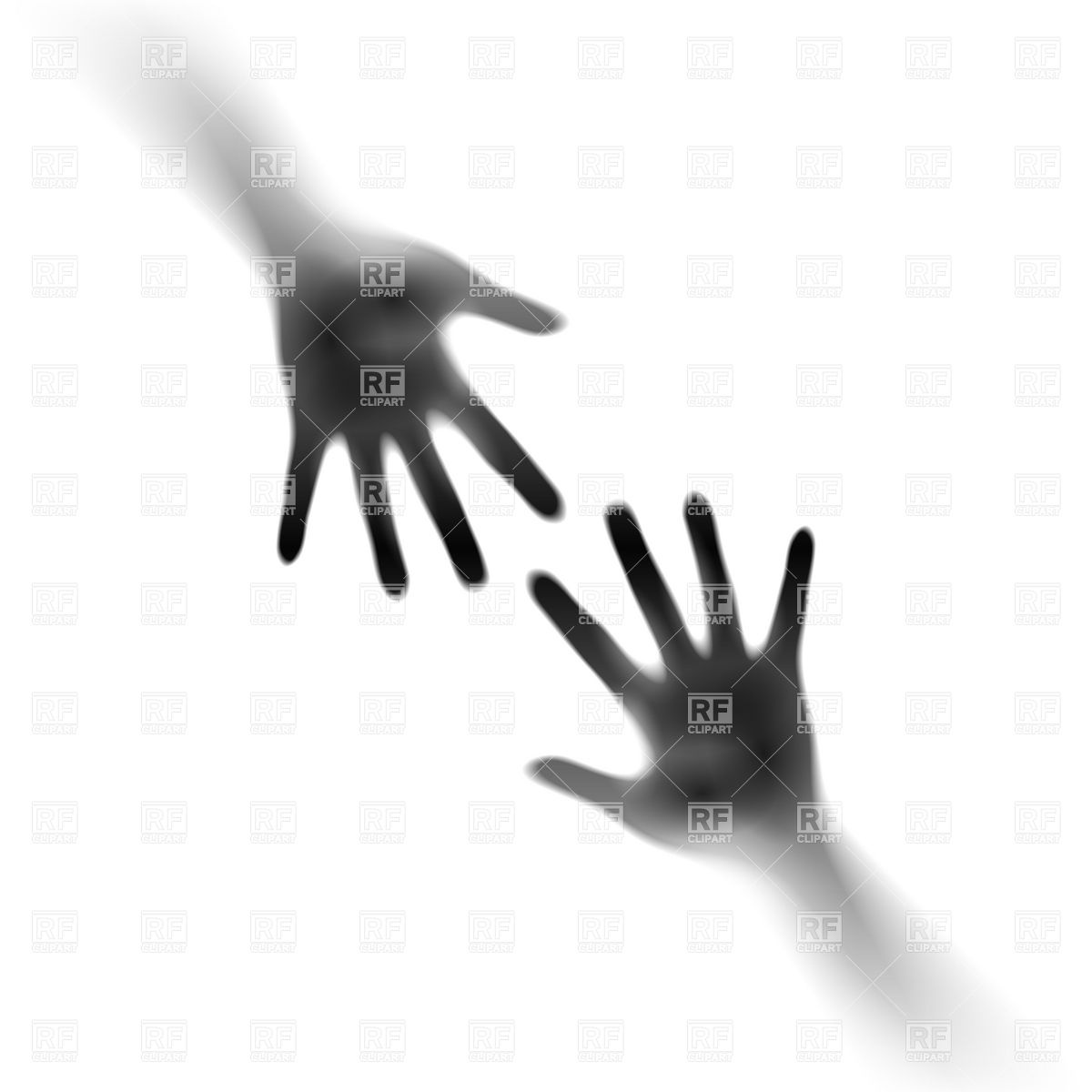 Two open hands in the mist Vector Image #6513.