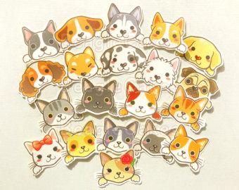 Cute & fun stationery stickers cards custom art von BeagleCakesArt.