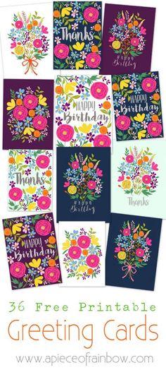 6 Free Gorgeous Printable Cards.