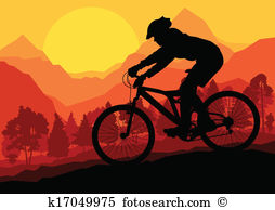 Mountainbike Clipart Illustrationen. 4.931 mountainbike Clip Art.