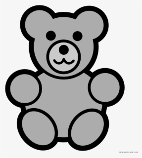 Free Teddy Bear Black And White Clip Art with No Background.