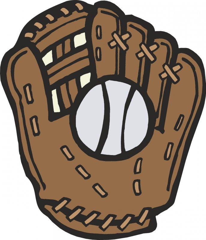 cartoon baseball glove clipart