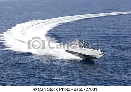 Stock Fotografie von schnell, Mittelmeer, boot, meer.