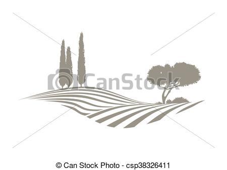 Vektor Clip Art von vektor, Mittelmeer, landschaftsbild.