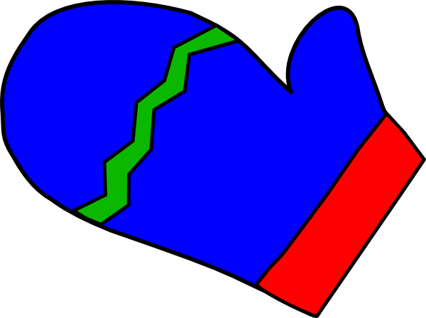 Blue Mitten Clip Art at Clker.com.