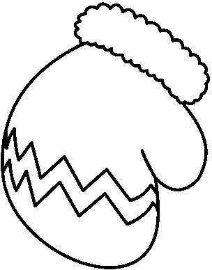 Mitten clipart black and white search results calendar 5.