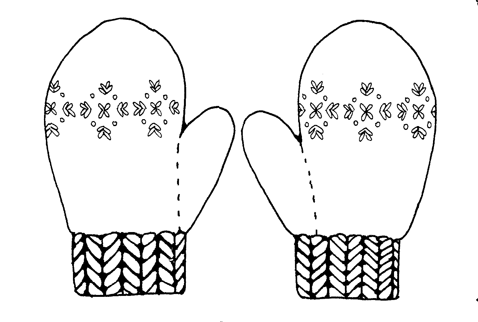 Free Mittens Clipart Black And White, Download Free Clip Art.