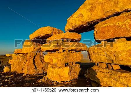 Stock Photography of Rock sculptures at a sculpture park in Mitzpe.