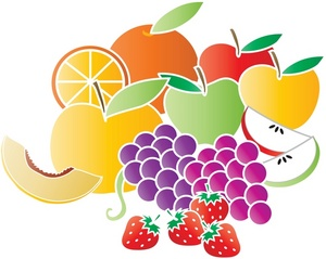 Mixed fruit clipart.