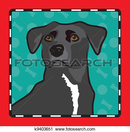 Clipart of Mixed Breed Cartoon k9403651.