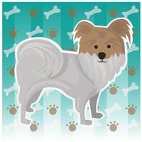 Free Mixed breed dog Vector Image.