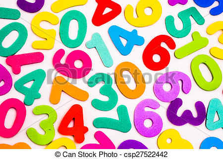 Stock Photo of Mixed Numbers of Different Colours..