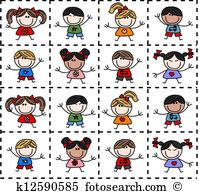 Mixed family Clipart Illustrations. 268 mixed family clip art.