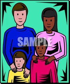 Mixed Family Clip Art.