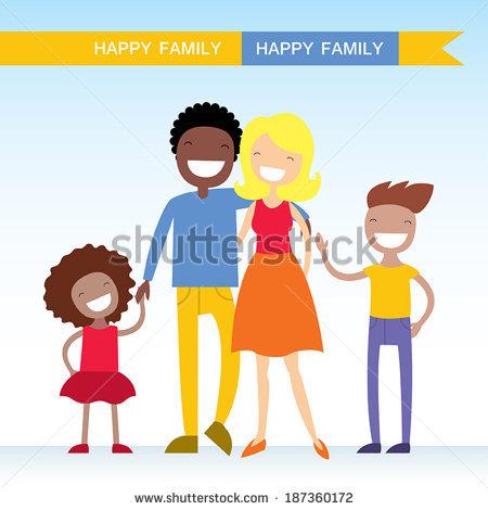 Mixed Family Stock Vectors, Images & Vector Art.
