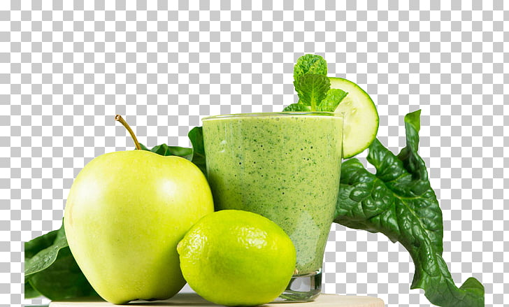 Juice Smoothie Vegetable Lime Apple, Mixed fruit juice PNG.