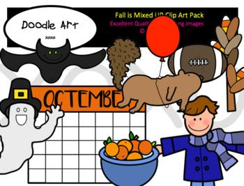 Fall is Mixed Up Clip Art Pack.