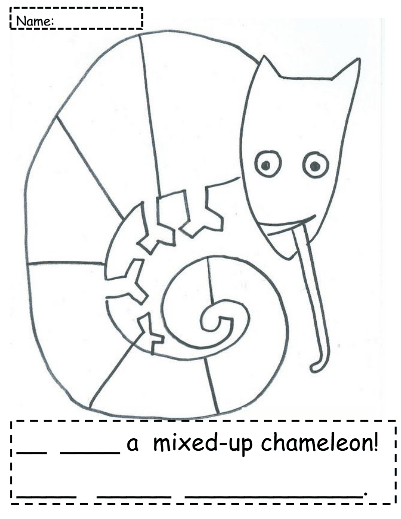 Chameleon clipart mixed up chameleon, Picture #170053.