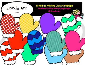 Mixed up Mittens Clipart Pack.