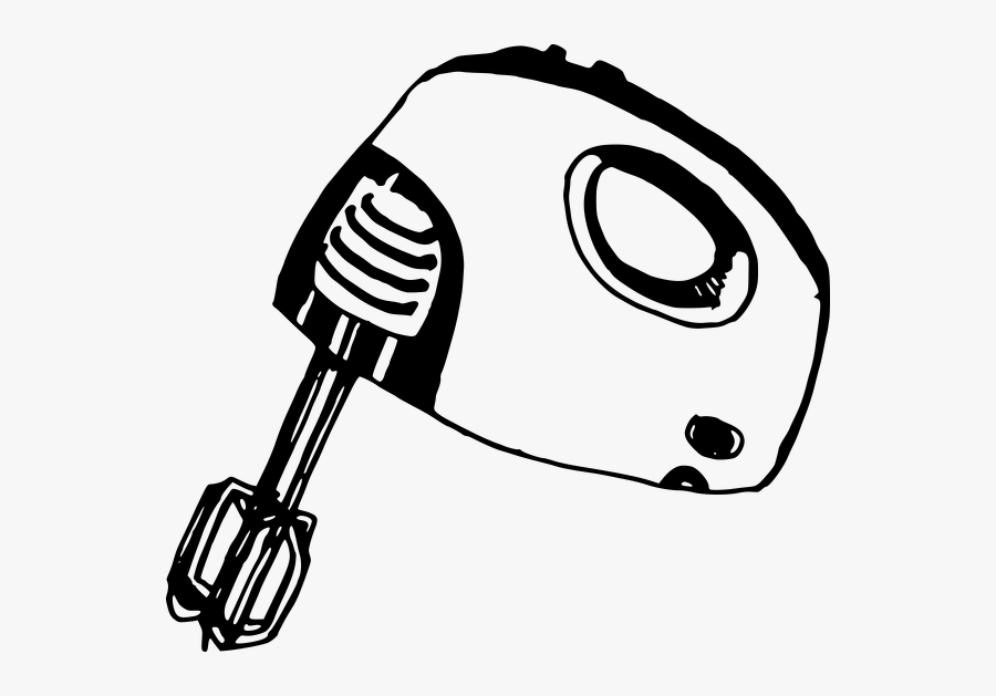 Transparent Mixer Clipart Black And White.