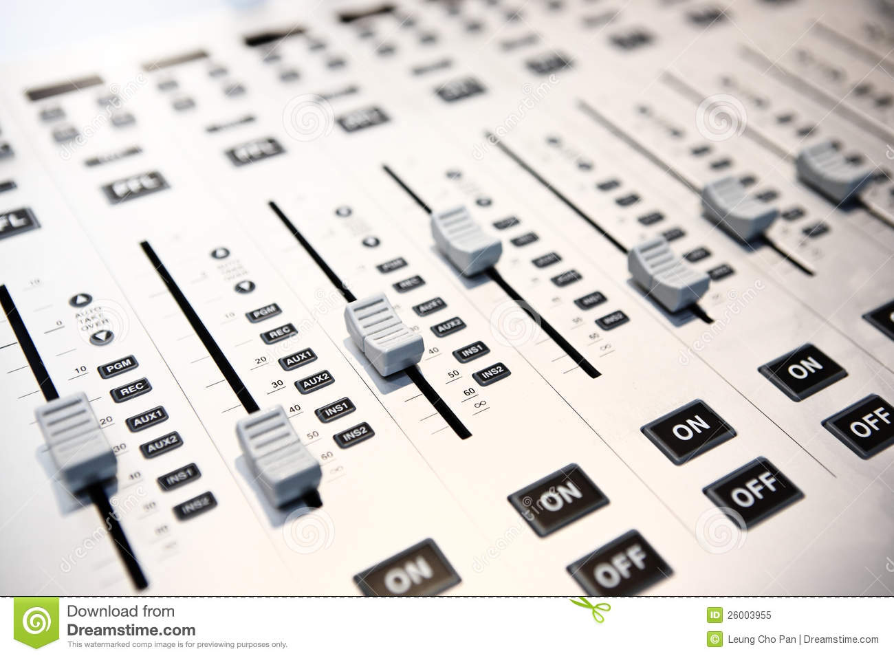 Mixing desk clipart.