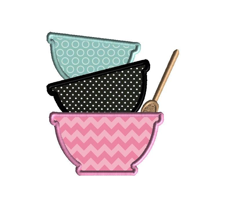 Cute mixing bowl clipart.