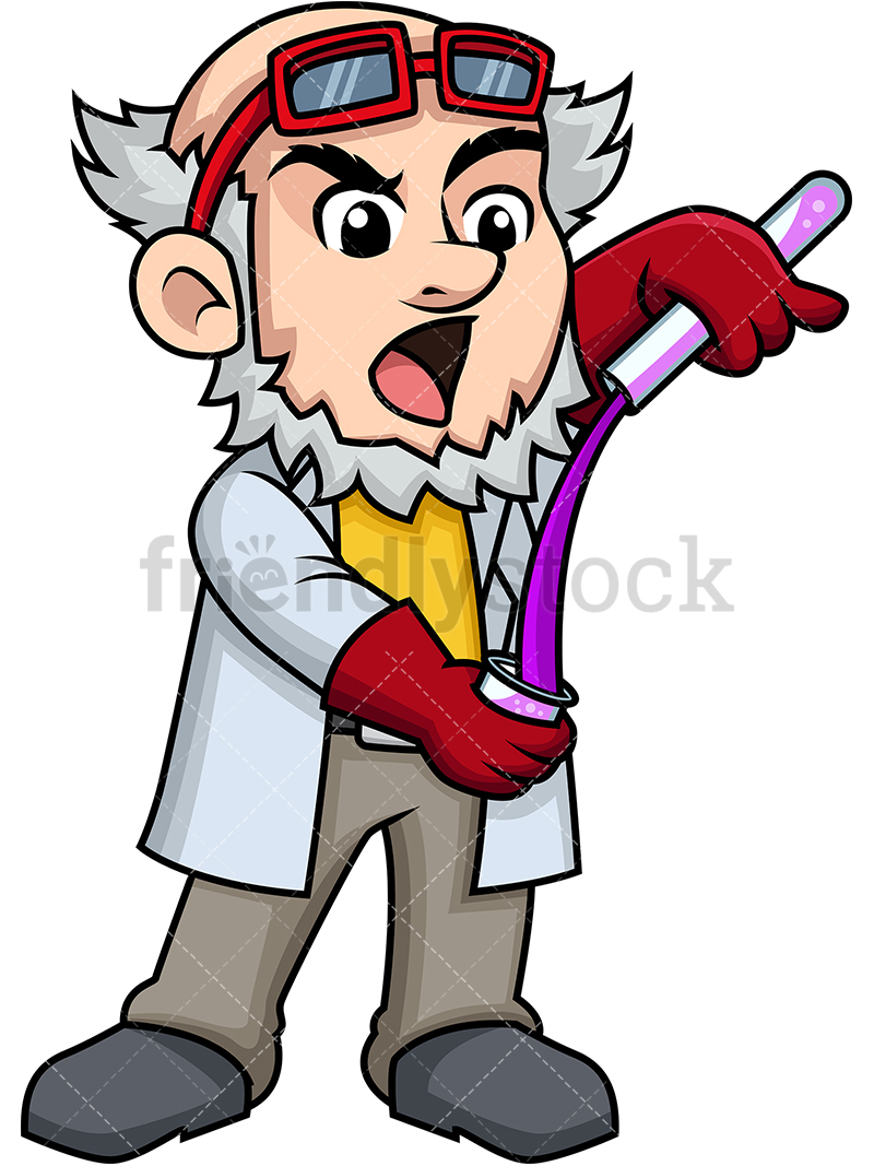 mixing chemicals clipart #4