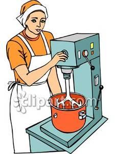 Mixing Dough.