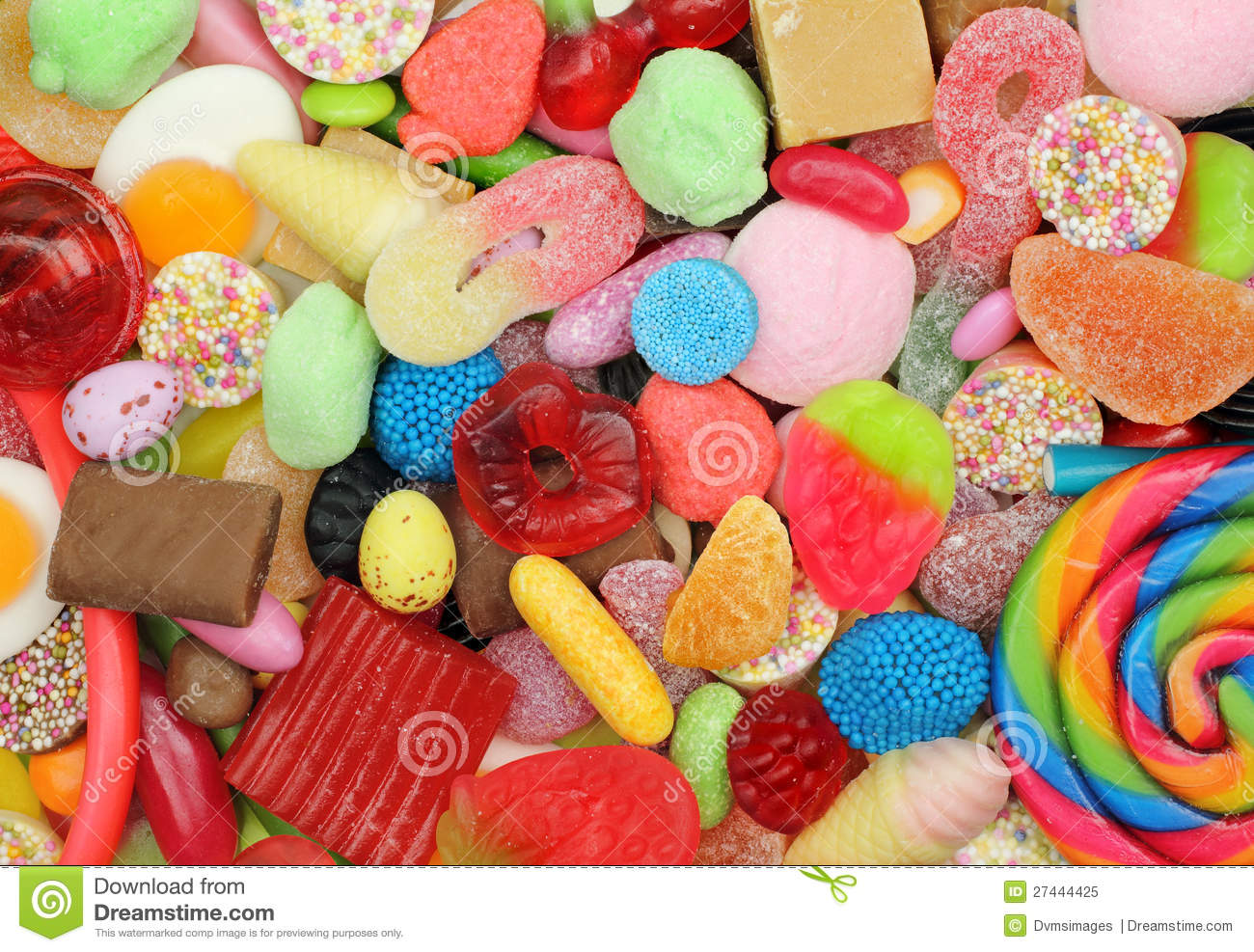 Candy Mixture Clipart.