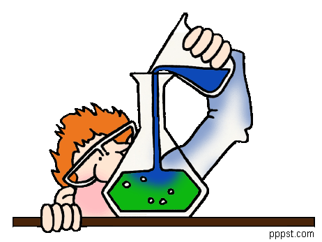Mixtures in science clipart.