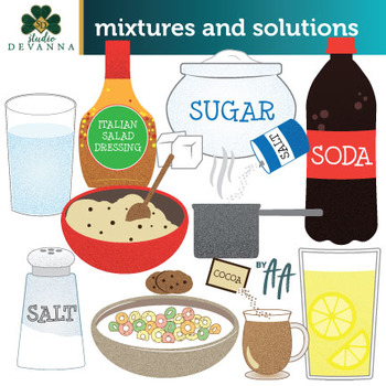 Mixtures and Solutions Clip Art in 2019.