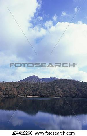 Stock Photography of Rokkannon Pond, Miyazaki Prefecture, Japan.