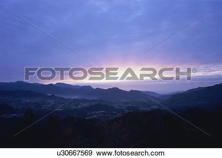 Stock Photograph of Kunimigaoka, Miyazaki Prefecture, Japan.