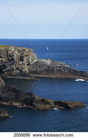 Stock Images of Rock Formations Along The Coast; Mizen Head County.