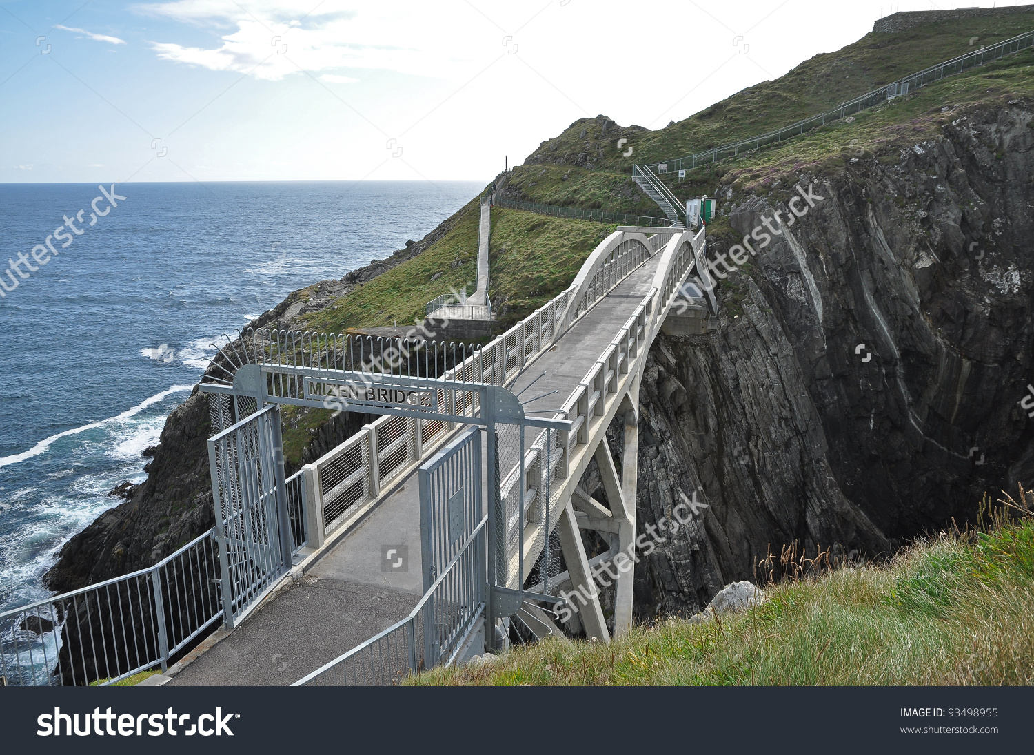 Bridge Mizen Head Co Cork Ireland Stock Photo 93498955.