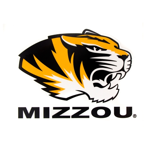 Mizzou Tiger Head Decal Black/gold.
