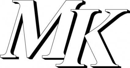MK logo Clipart Graphic.