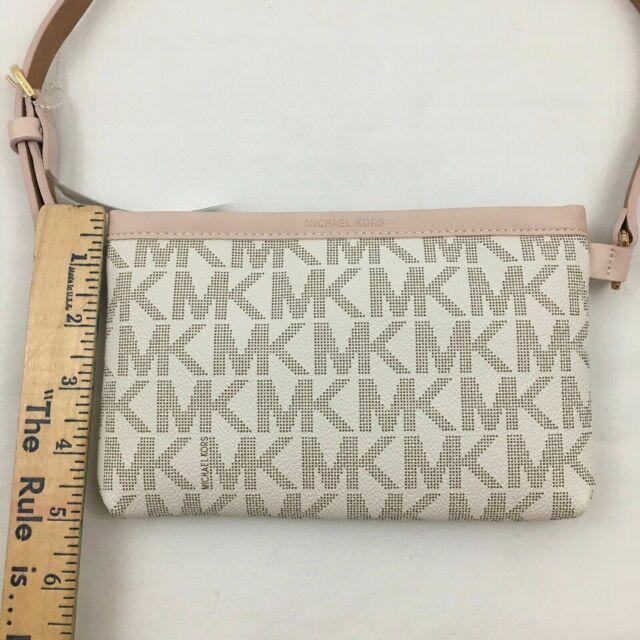 Michael Kors Fanny Pack Belt MK Logo Bag 551749C Vanilla Size M.