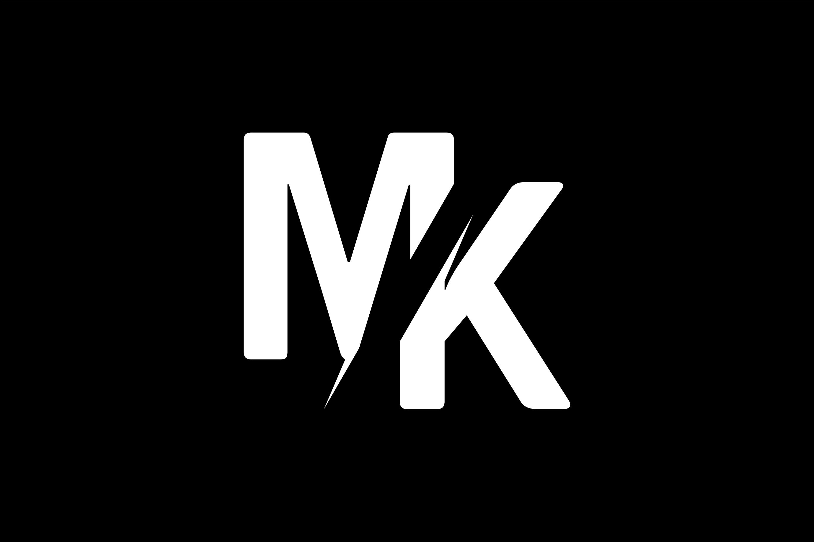Monogram MK Logo Design.
