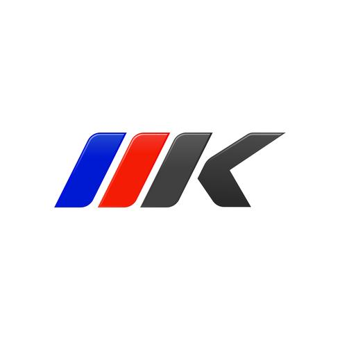 letter MK racing logo design template.