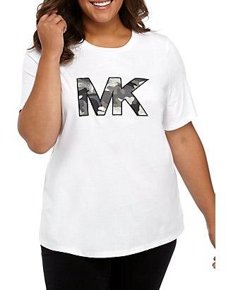 Plus Size Camo MK Logo T.
